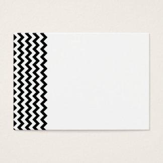 Black White Chevrons Business Card