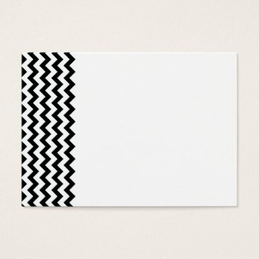 Professional Business Black White Chevrons Business Card