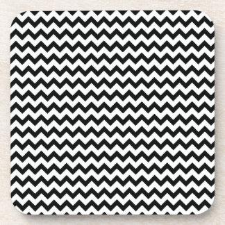 Black White Chevrons Cork Coaster