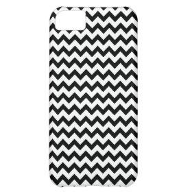 Black White Chevrons iPhone 5C Case