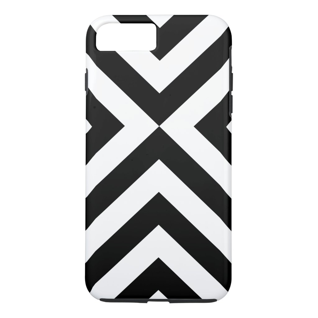 Black & White Chevrons iPhone 8/7 Plus Tough Case