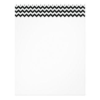 Black White Chevrons Letterhead