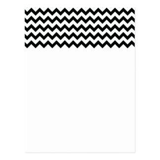 Black White Chevrons Postcard