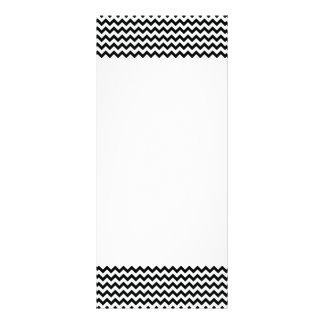 Black White Chevrons Rack Card