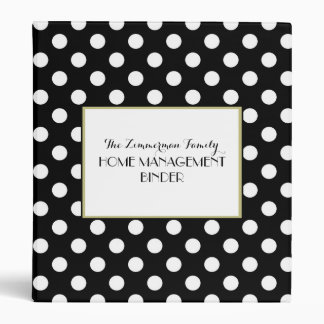 Black, White & Chic All Over Personalized Binder