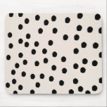 """Black &amp; White Chic Dots Mousepad<br><div class=""""desc"""">Show off your stylish self with chic &amp; glam office supplies.</div>"""