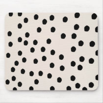 Black & White Chic Dots Mousepad