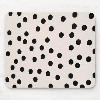 Black & White Chic Dots Mousepad