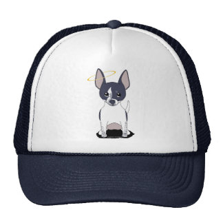 Black White Chihuahua Angel Trucker Hat