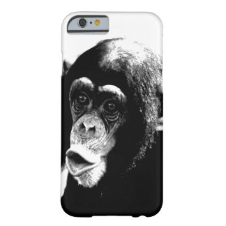 Black White Chimpanzee Barely There iPhone 6 Case