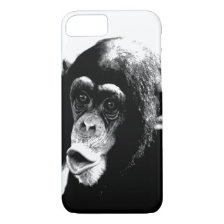 Black White Chimpanzee iPhone 8/7 Case