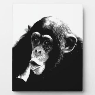 Black White Chimpanzee Plaque