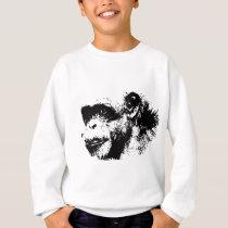 Black & White Chimpanzee Pop Art Sweatshirt