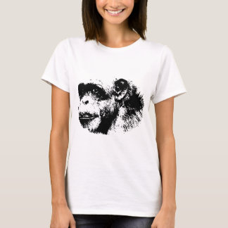 Black & White Chimpanzee Pop Art T-Shirt