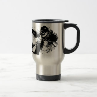 Black & White Chimpanzee Pop Art Travel Mug