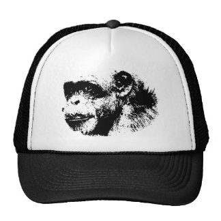 Black & White Chimpanzee Pop Art Trucker Hat