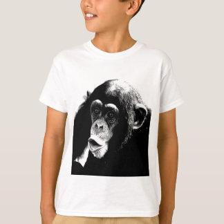 Black White Chimpanzee T-Shirt