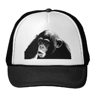 Black White Chimpanzee Trucker Hat