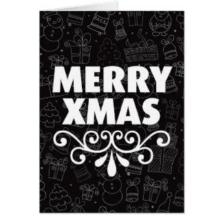Black white christmas card