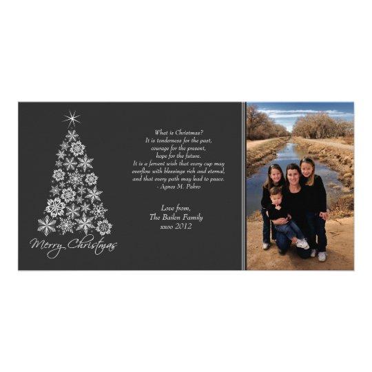 Black & White Christmas Xmas Tree Photo Card