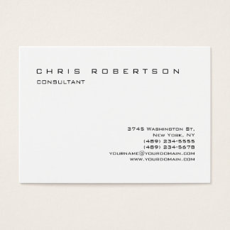 Black White Chubby Trendy Charming Business Card