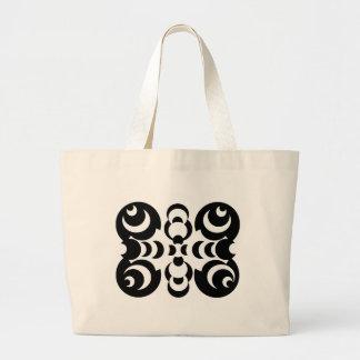 Black & White Circles Large Tote Bag