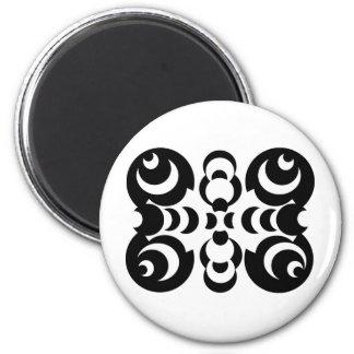 Black & White Circles Magnet