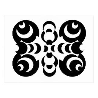 Black & White Circles Postcard