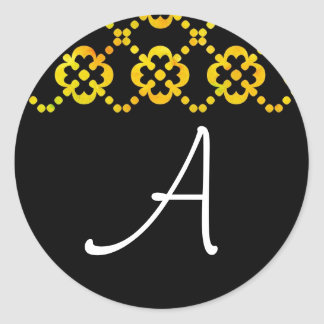 Black & White Citrus Cross Sticker