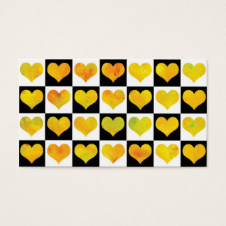 Black & White Citrus Hearts Business Card