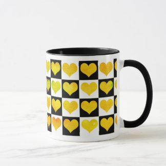 Black & White Citrus Hearts Mug