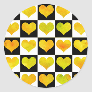 Black & White Citrus Hearts Sticker