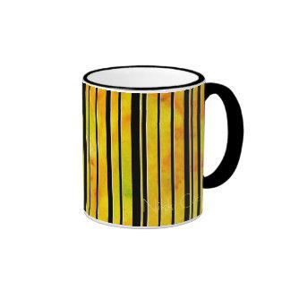 Black & White Citrus Lines Mug