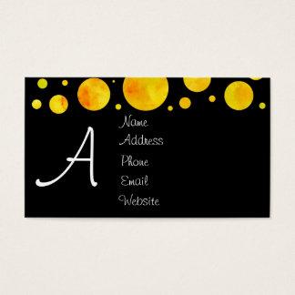 Black & White Citrus Polka Dot Business Card
