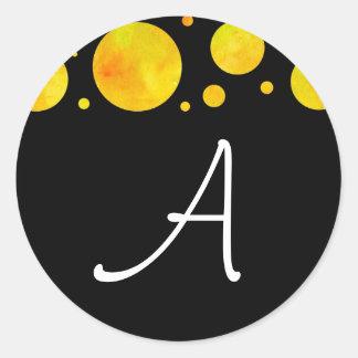 Black & White Citrus Polka Dot Sticker