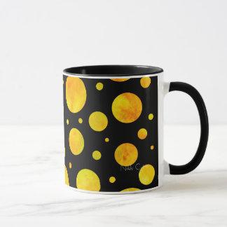 Black & White Citrus Polka Dots Mug