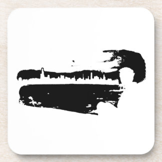 Black & White City Lookout - Plastic Coasters