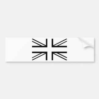 Black & White Classic Union Jack British(UK) Flag Bumper Sticker
