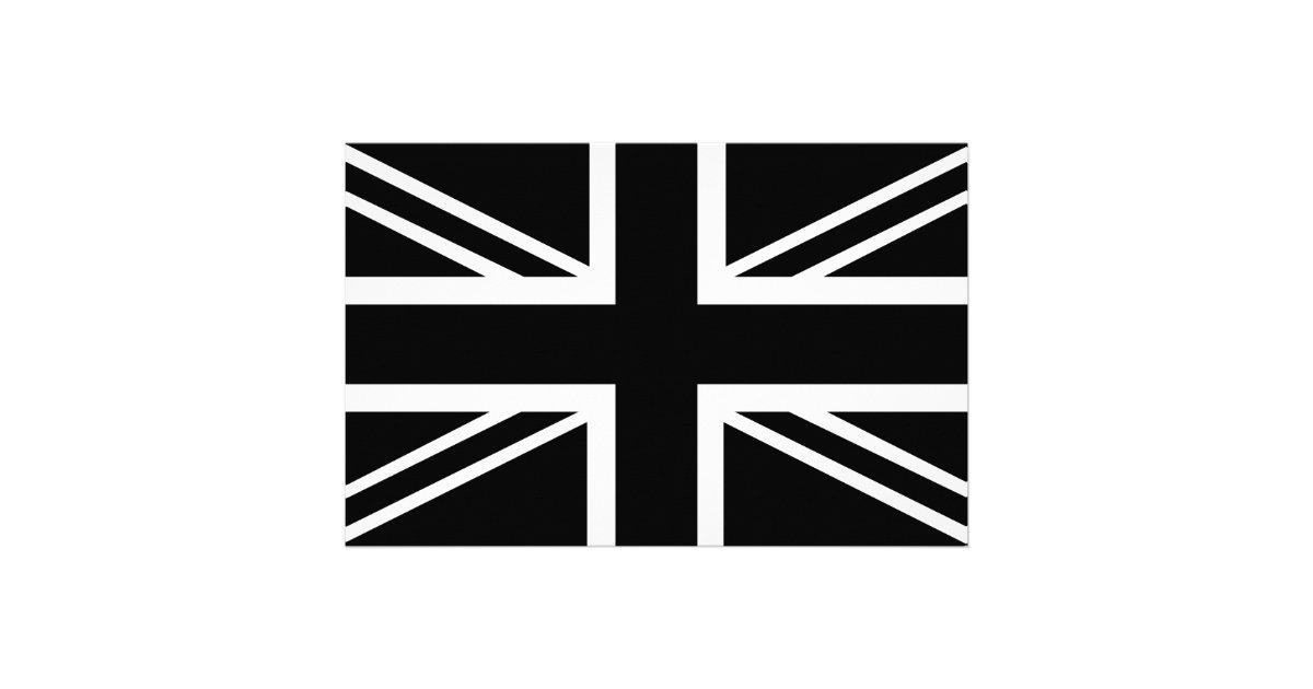 BLack & White Classic Union Jack British(UK) Flag ...