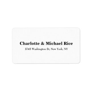 Black White Classical Bold Text Elegant Family Label