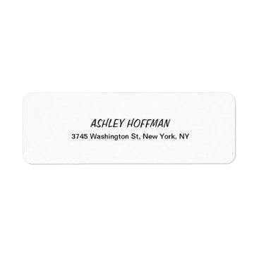 USA Themed Black & White Classical Handwriting Legible Label