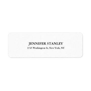 USA Themed Black & White Classical Look Professional Personal Label
