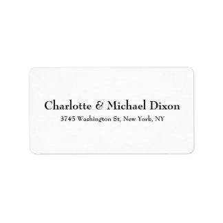 Black White Classical Stylish Elegant Family Label