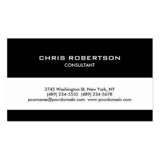 Black White Classical Trendy Stripe Business Card