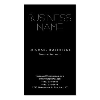 Black White Clean Consultant Business Card