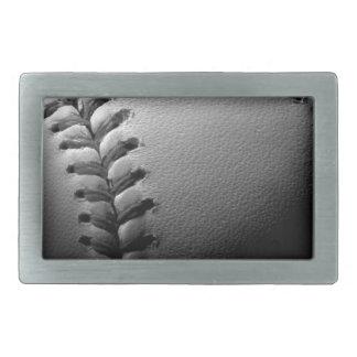 Black & White Close-up Baseball Belt Buckle
