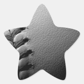 Black & White Close-up Baseball Star Sticker
