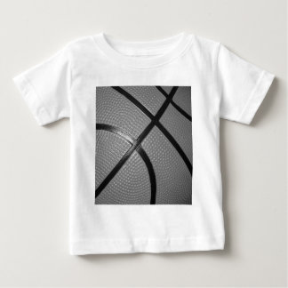 Black & White Close-Up Basketball Baby T-Shirt