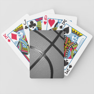 Black & White Close-Up Basketball Bicycle Playing Cards