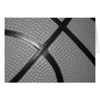 Black & White Close-Up Basketball Card